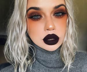 beautiful, portrait, and darklips image