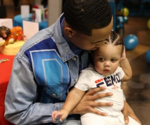 baby, g herbo, and dad image