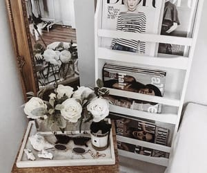 fashion, mirror, and roses image