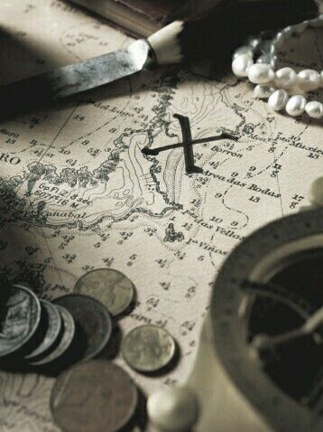 pirate, map, and aesthetic image