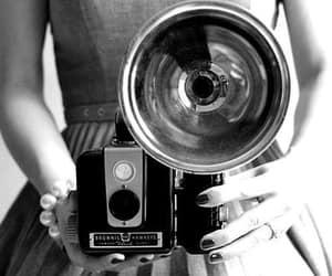 vintage, camera, and dress image