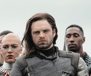 sebastian stan, white wolf, and winter soldier image