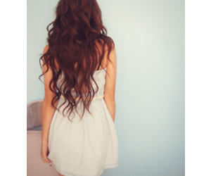 hair, curly, and dress image
