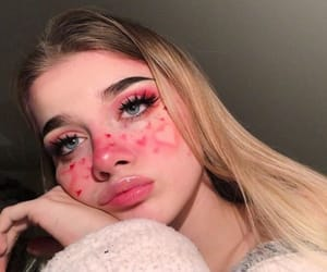 girl, heart, and makeup image