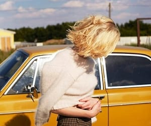 vintage, blonde, and car image