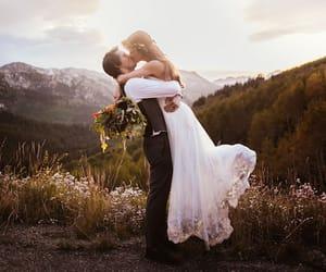 bride, couple, and wedding image