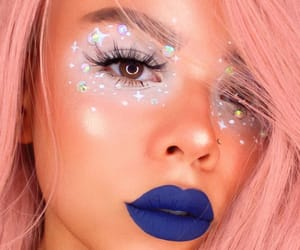 lashes, icequeen, and pinkhair image