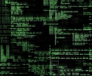 code and green image