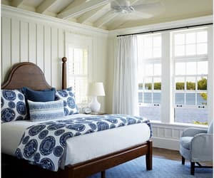 beach house, bedroom, and cottage image