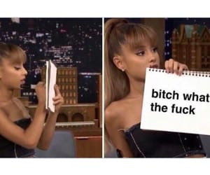 funny, ariana grande, and reaction pic image