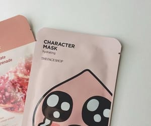 pink, aesthetic, and mask image