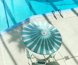 pool, turquoise, and poolside image
