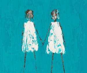 art, paintings, and turquoise image