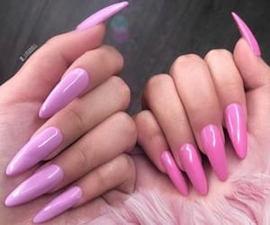 nails, inspiration, and pink image