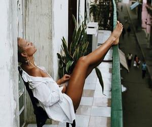girl, summer, and balcony image