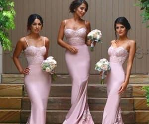 lace bridesmaid dress, long bridesmaid dresses, and mermaid bridesmaid dress image