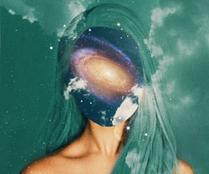 girl, space, and trippy image