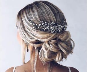hair, beauty, and bun image