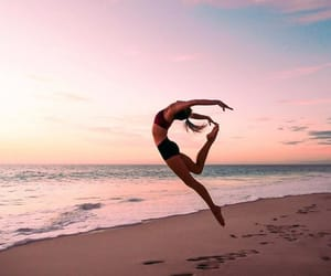 beach, dance, and fitness image
