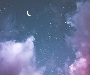 clouds, purple, and asthetic image