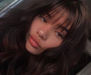 girl, bangs, and inspo image