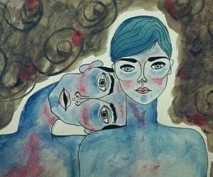art, hug, and sadness image