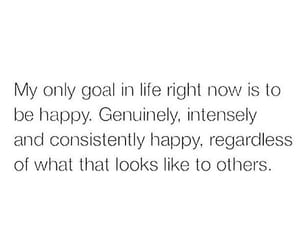 happy, goals, and quotes image