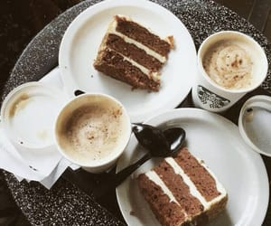 cake, coffee, and starbucks image