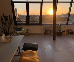 sunset, sunrise, and apartment image