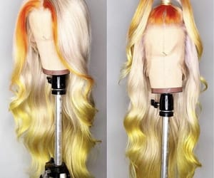 color, haircut, and lacewig image