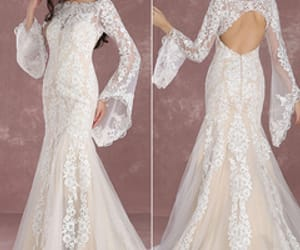 dress, marry, and withe image