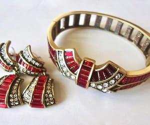 etsy, art deco earrings, and clamper bracelet image