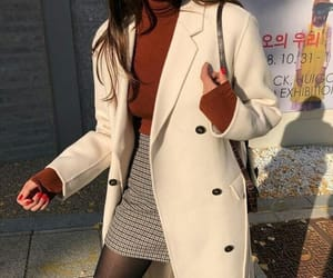 beige, korean style, and burgundy image