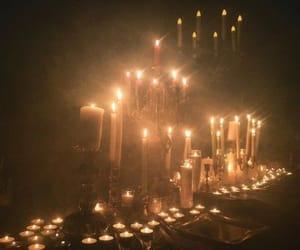 candle, aesthetic, and light image