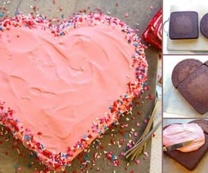 cake, heart, and diy image