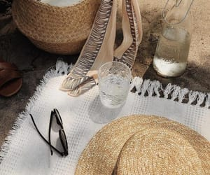 accessories, sand, and beach image