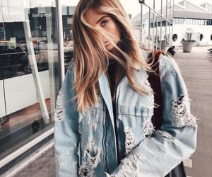 girl, fashion, and denim image