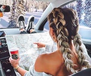 cars, girl, and hair image