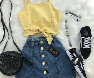 outfit, clothes, and skirt image
