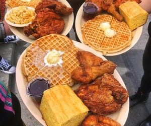 food, combos, and waffles image