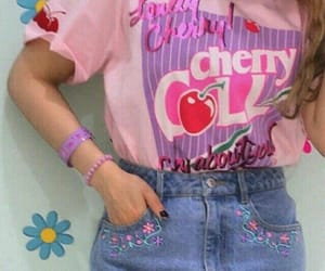 pink, cherry, and fashion image