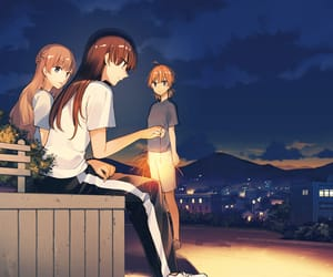 anime, touko, and bloom into you image