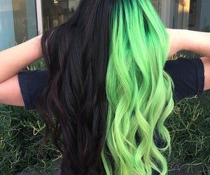 black, girl, and green image
