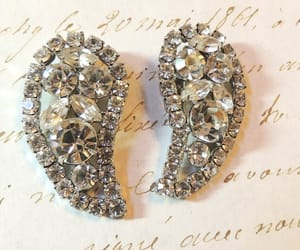 bridal jewelry, statement earrings, and etsy image