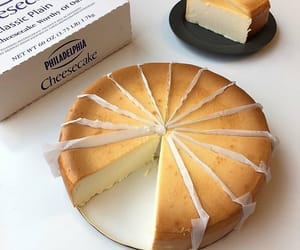 cheesecake, food, and cake image
