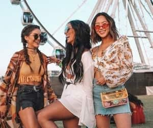 coachella, fashion, and friendship image