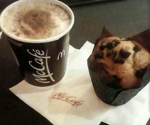 cafe, coffe, and muffin image