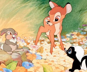 bambi, disney, and flowers image