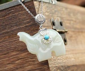 etsy, elephant necklace, and elephant pendant image