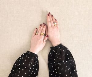 fashion, nails, and polka dot image